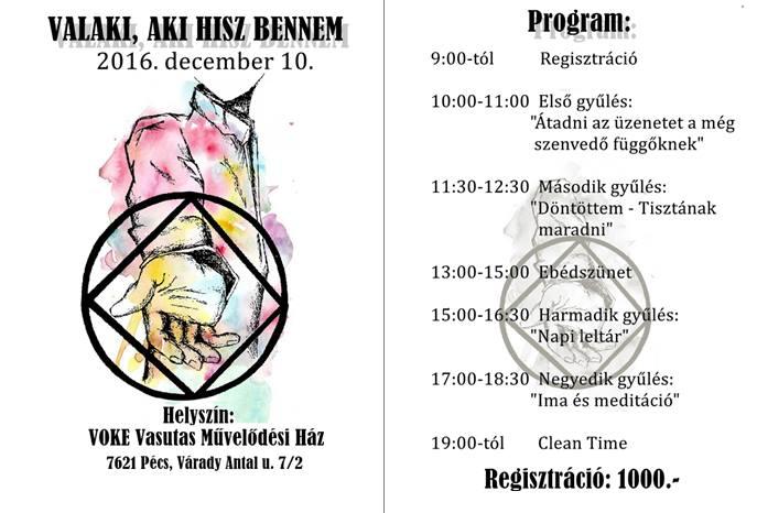 1 napos pécsi NA találkozó 2016. december 10.